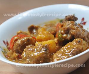 Beef Caldereta Filipino Style Recipe