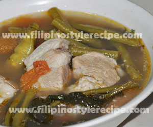 Sinigang na Baboy(Sour Soup Pork)