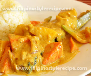 Fish Fillet Curry Filipino Style Recipe