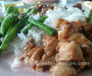 filipino style recipe chicken and green beans with spicy peanut sauce ...