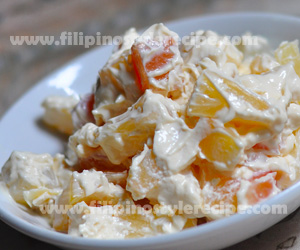 Filipino Style Fruit Salad http://filipinostylerecipe.com/2012/09/fruit-salad/