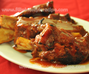 Baked Honey Barbecue Spareribs