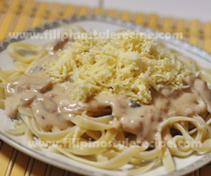 Tuna and Mushroom Pasta