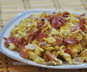 Bacon, Egg and Cheese Scramble