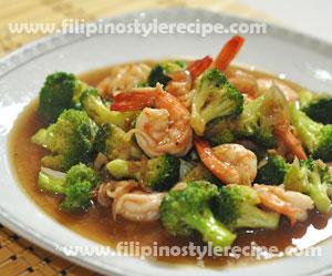 Stir Fry Shrimp And Broccoli Filipino Style Recipe
