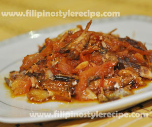 Sauteed Tinapa with Tomatoes
