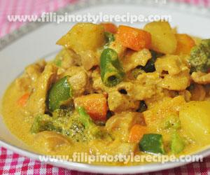 Pork Curry Filipino Style Recipe