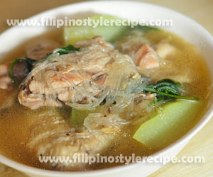 Chicken Tinola with Sotanghon