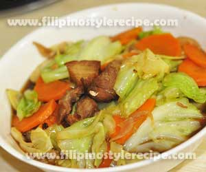 Sauteed Cabbage with Oyster Sauce