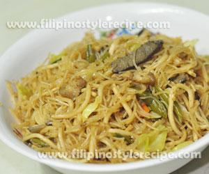 Pansit Bihon Canton Guisado