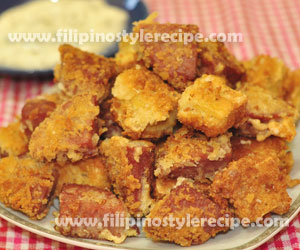 Crispy Fried Luncheon Meat and Tofu