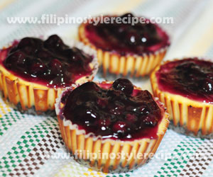 Blueberry Cheese Cupcakes