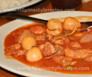 Pork and Egg Menudo