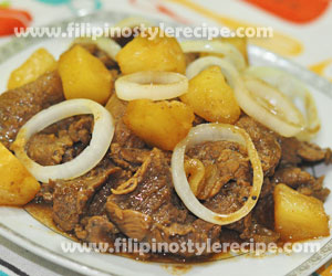 Pininyahang Bistek(Beef Steak with Pineapple)
