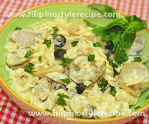 Seafood Fusilli in Creamy White Sauce