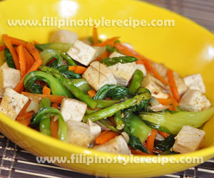 Stir Cooked Bok Choy and Tofu