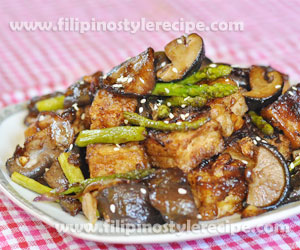 Stir Fry Tofu, Asparagus and Mushroom