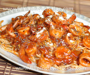 Seafood Three-Cheese Pasta