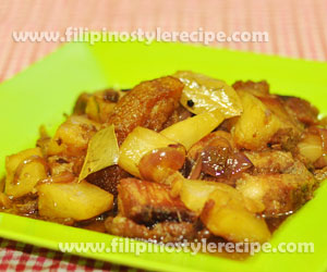 Adobong Bagnet with Pineapple