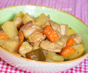 Pineapple Pork with Coconut Milk