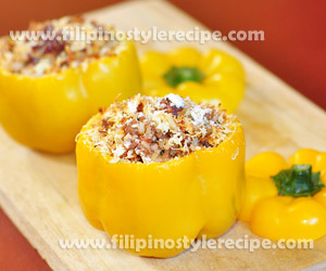 Stuffed Pork Bell Pepper