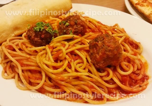 spaghetti meatballs filipino style